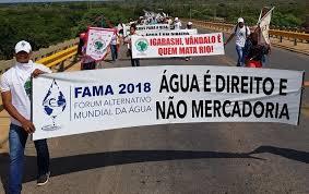 Movimentos populares organizam Fórum Alternativo da Água em Brasília