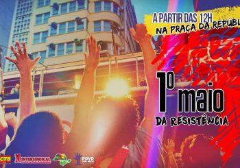 Em São Paulo, 1º de maio da resistência será na Praça da República