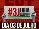 """CUT convoca mobilização popular para este sábado (3) pelo """"Fora, Bolsonaro"""""""